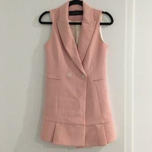 Zara Dresses | Pink Vest Dress